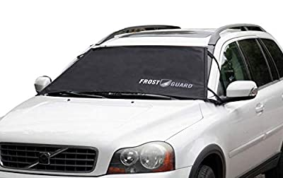 FrostGuard Premium Winter Windshield Cover for Snow, Frost and Ice - Cold Weather Protection for Your Vehicle - Fits Most Cars, Sedans, Small Trucks and SUVs