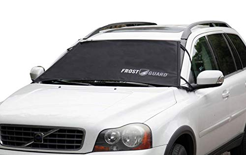 "FrostGuard ProTec | Premium Winter Windshield Cover for Snow, Frost and Ice – Cold Weather Protection for Your Vehicle – Black, Standard Size 60 x 32"" Fits Cars, Sedans, Small SUVs"