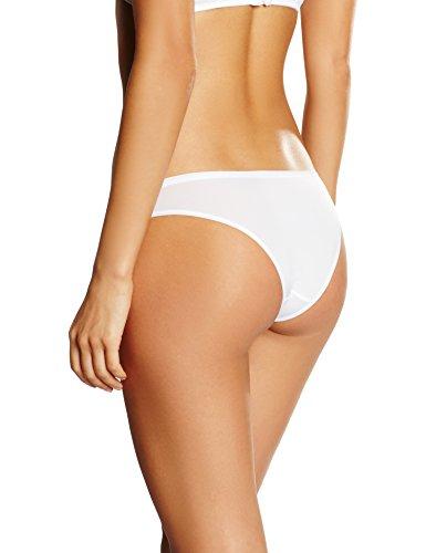 IRIS & LILLY Braguita brasileña de Microfibra Body Smooth para Mujer Blanco (White)