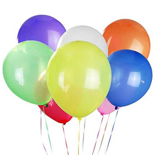 LD Goods Latex Balloons Bulk (220 Piece) 8 Color Party Balloons