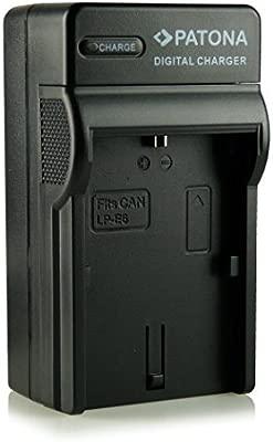 Patona - Cargador tipo LP-E6 con tres clavijas para cámara de fotos digital Canon EOS 5D Mark II/Mark II/EOS 7D/EOS 60D, etc.
