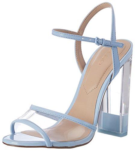 Aldo Camylla - Sandalias de tobillo Mujer Azul (6 Medium Blue)