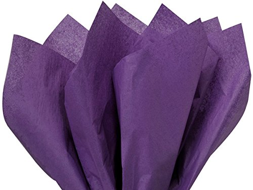 A1BakerySupplies® Premium High Quality Gift Wrap Tissue Paper 15 Inch X 20 Inch - 100 Pack (Purple Paper Gift)