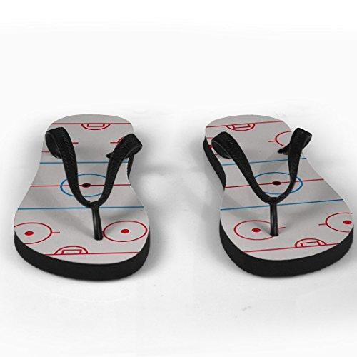 Hockey Rink Flip Flops