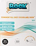 Rock Paper Scissors Printable Sticker Paper, 8.5 x 11-Inch, 100 Count