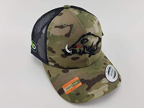 - Multicam Hog Hat, hunting pig, MAD Hog, hunting trucker hat, hunting hat, black multicam hat, camo hunting hat, camo cap, hunter gifts, hunter hat, hog life, snapback, trucker hat