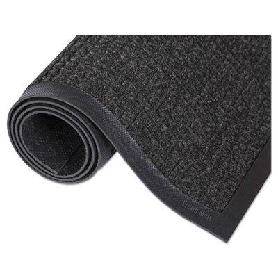 Super-Soaker Wiper Mat w/Gripper Bottm, Polypropylene, 45'''' x 68'''', Charcoal, Sold as 1 Each