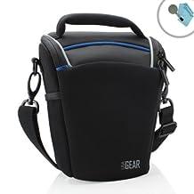 USA Gear Portable Top Loading dSLR Camera Case Bag- Works with Fujifilm X-T1 , X-E2 / FinePix S8600 / Pentax K-5 II , K-5 , K-3 with 18-135mm Lens , 18-55mm Lens & More DSLR Cameras!