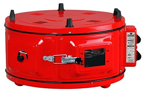 Itimat - Horno Rundofen XL con termostato redondo rojo: Amazon.es ...