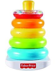 Fisher-Price FHC92 Kleurrijke piramide stapeltoren motoriek en educatief speelgoed voor sorteren en stapelen