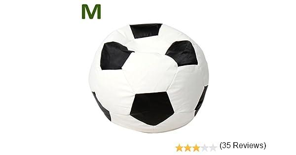 Miadomodo Jago - Sillón Puff en Forma de Pelota de fútbol de ...
