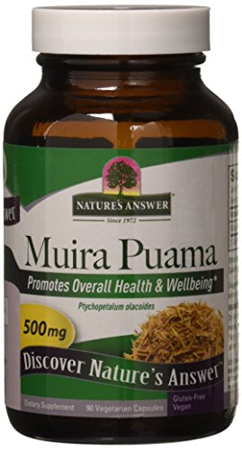 Muira Puama Root (Nature's Answer Muira Puama Bark, 90-Count)