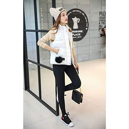 Vest Roul Gilet avec en Branch Blanc Matelass Gilet Manches Confortable Elgante Outerwear Femme Vtements sans Gilet Zip Coat Fashion Col Duvet Hiver Rembourr Automne Casual Lgrement ORqwH16