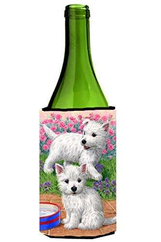 Caroline's Treasures Westie Pups Wine Bottle Koozie Hugger, 750 ml, Multicolor from Caroline's Treasures