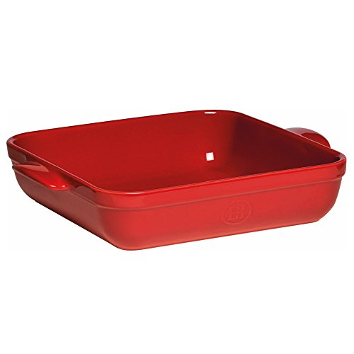 Emile Henry Made In France 9 inchx9 inch Square Baking Dish, Burgundy Red