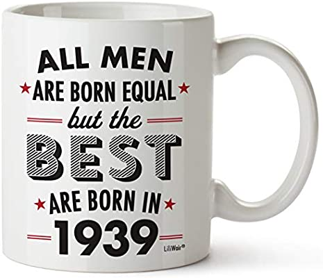 80th Birthday Gifts For Eighty Years Old Men Gift Mugs Happy Funny 80 Mens Man Best Friend 1939 Male Mug Unique Ideas 39 Wife Gag Dad Cute Girls Guys Good