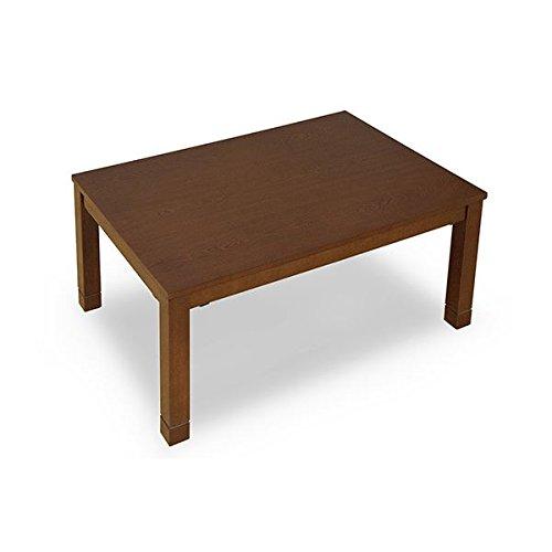 【一部予約販売】 継脚式モダンこたつテーブル【幅90cm】 ブラウン 長方形 木製(天然木) 本体 高さ調節可/消臭機能付き【幅90cm】 本体/継ぎ足 ブラウン B01LZHJ48G, イナシ:9b800945 --- ciadaterra.com