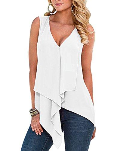 Rond Couleur Tops Col Pure De Soie Lache Shirt Blanc Mousseline Femmes Blouse xtZwBdzqZ