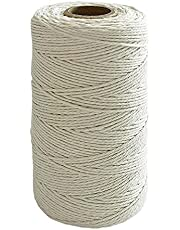 Cotton Bakers Twine Cotton String Cooking Butchers Twine for Tying Poultry Meat Making Sausage, Gift Wrapping, DIY Crafts and Garden Decoration