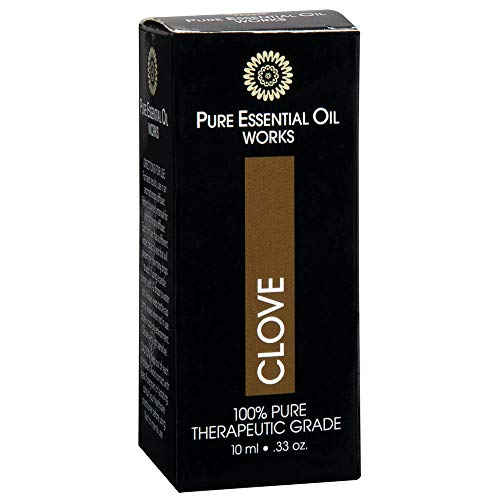- Pure Essential Oil Works Clove Oil, 100% Pure, Natural, Paraben-Free and Therapeutic Grade with Euro-Style Dropper.33 Ounces