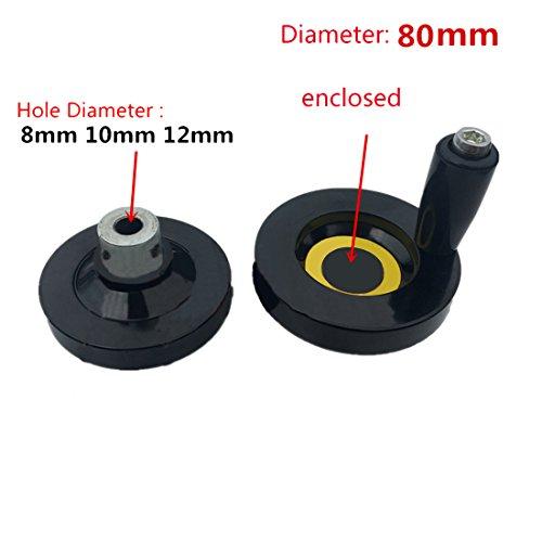 Hole Diameter Screw - 1pcs CNC 3D Printer lead screw Trapezoidal Lead Screw hole diameter 10mm hand wheel Diameter 80mm