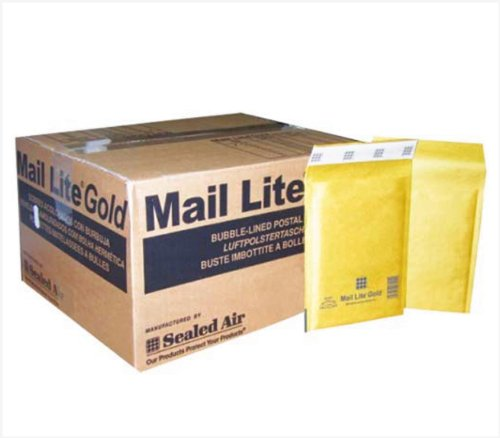 50 Mail Lite - H/5 - Bubble Lined Padded Envelopes 270 x 360mm - 10.5' x 14' (1 Box of 50) - Gold - No Frustration Bulk Pack by MAILERPRO®