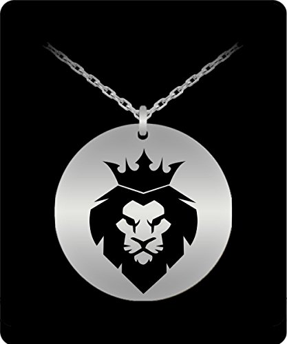 Costumes Ideas For Fat Guys (Lion Head Necklace - 18k Gold Palted/Stainless Steel Laser Engraved Pendant - Great Gift Charm For Men and Woman)