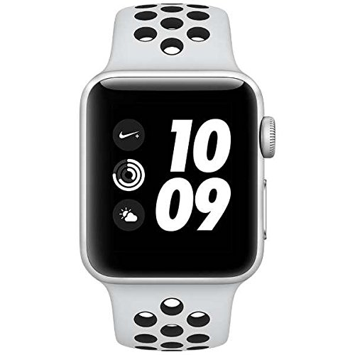 Apple Watch Nike+ Series 3 (GPS), 38mm Silver Aluminum Case with Pure Platinum/Black Nike Sport Band by Apple (Image #1)