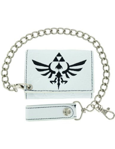 Nintendo Legend of Zelda White Wallet with Chain