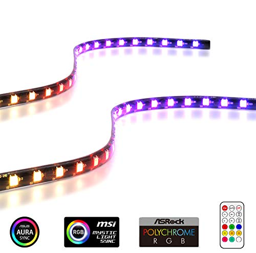 EZDIY-FAB Addressable RGB LED Strips with Magnet for PC Computer
