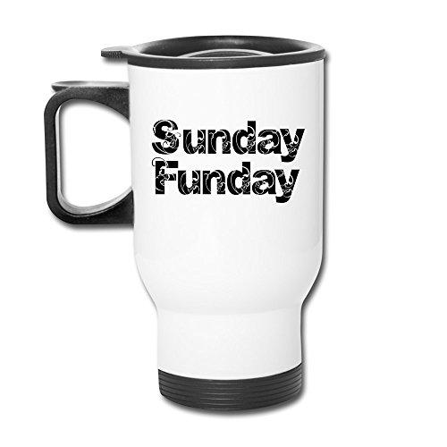 Sunday Funday Aluminum White Travel Mug, 12 ()