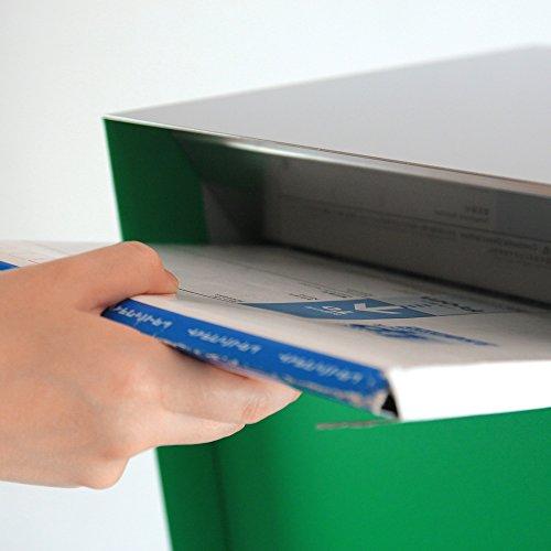 KATANABOX ''Mega'' - Stainless Steel Post-Mount Modern Design Mailbox, Lockable (Red) by KATANABOX (Image #4)