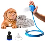 Vanshchan Pet Bathing Tool, Pet Shower Kit Dog Shower Sprayer, Adjustable Bath Glove Clean Massage and Remove Hair, Shower Attachment for Indoor & Outdoor Use, Pet-Friendly