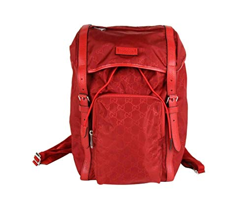 Gucci Unisex Red Nylon Backpack Travel Bag 510336 6523