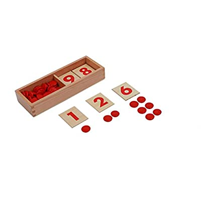 Cards & Counters-Montessori Materials Math Educational Tools Preschool at Home Learning Toys: Toys & Games
