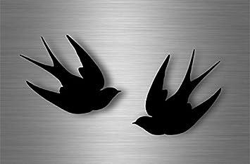 2x sticker car decal biker tuning viking raven odin crow pagan wiccan bird r1