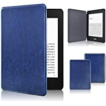 Kindle Paperwhite Case 2018, ACdream The Thinnest and Lightest Leather Smart Cover Case for 2018 New Kindle Paperwhite (Only Fit 2018 Kindle Paperwhite 10th Generation), Navy Blue