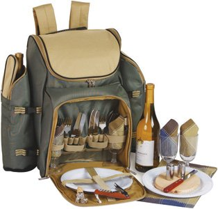 Picnic Plus Tandoor 4 Person Deluxe Picnic Backpack by Picnic Plus