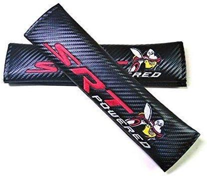 Geme One Pair Dodge Carbon Fiber Seat Belt Shoulder Pad Cover Fit For Dodge Car Brand Model