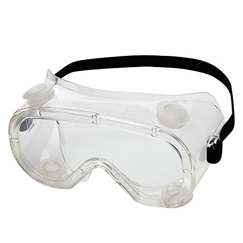 Sellstrom S81210 Advantage Series, Indirect Vent, Protective Safety Goggle - Clear Body, Clear Anti-Fog Lens, Black Adjustable Strap
