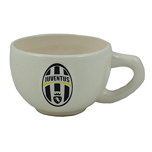 Juventus FC Official Ceramic Football Crest Tea Cup (One Size) (White/Black)