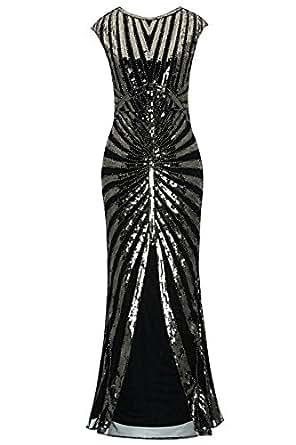 Amazon.com: Metme Women's Evening Dress 1920s Sequin