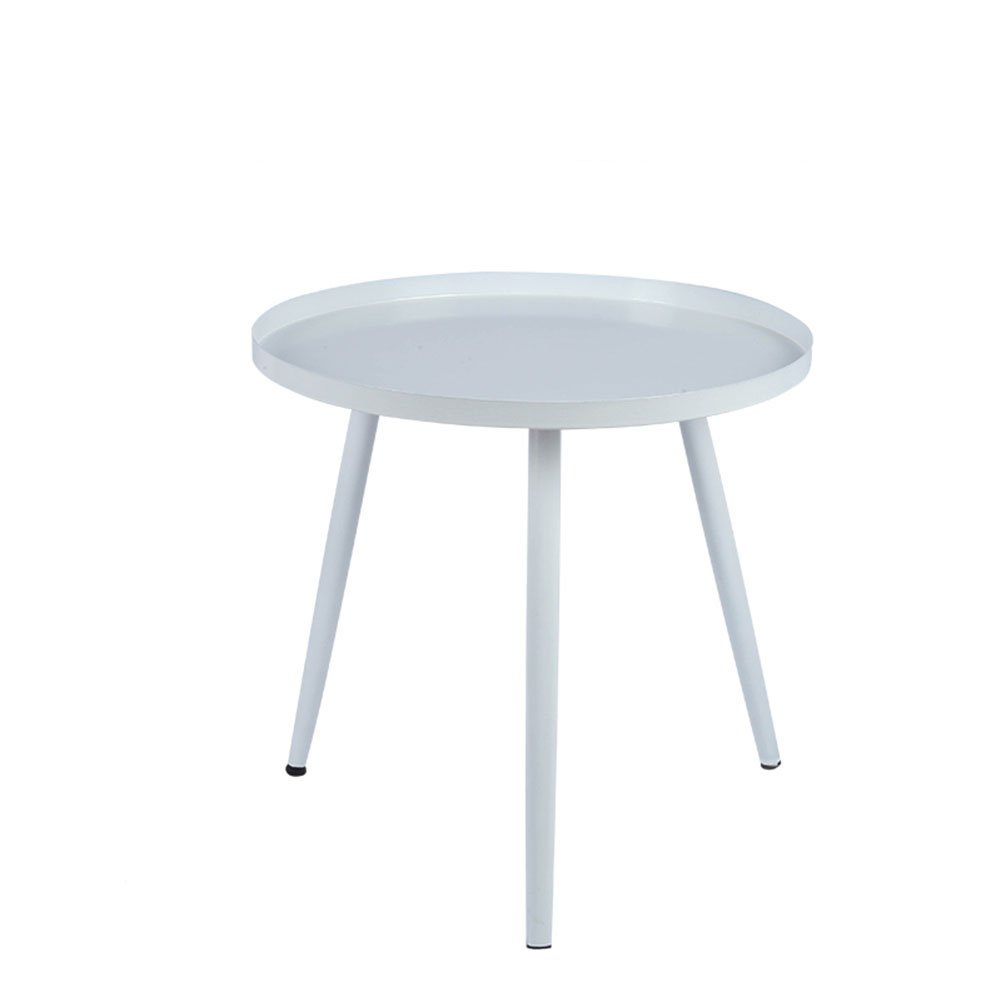 White 404042cm JJJJD Metal Coffee Table, Modern Living Room Sofa ...