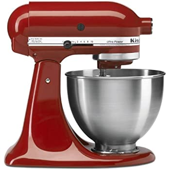 Amazon.com: KitchenAid 4-1/2-Quart Ultra Power Stand Mixer, Empire on kitchenaid waffle maker red, kitchenaid utensils red, kitchenaid chopper in red, kitchenaid candy apple red,