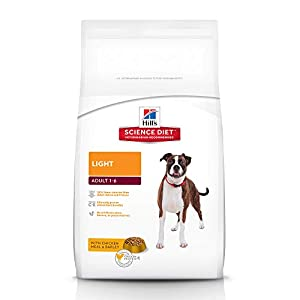 Hill's Science Diet Adult Light, Chicken Meal & Barley Dry Dog Food, 3 kg