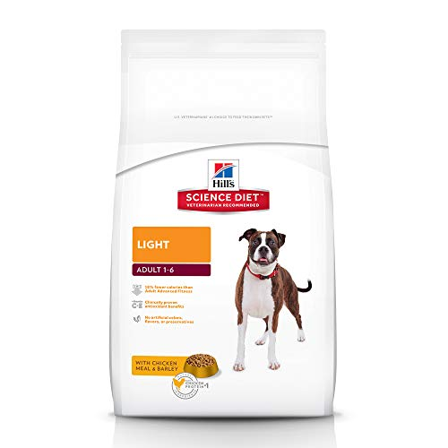 Hill's Science Diet Dry Dog Food, Adult, Light, Chicken Meal & Barley Recipe, 15 LB Bag