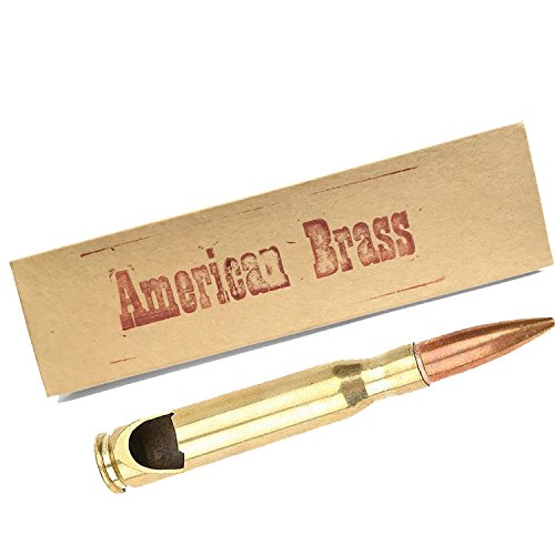 American Brass: .50 Caliber Bullet Bottle Opener in Box, Made in America From Real Once-Fired 50 BMG ()