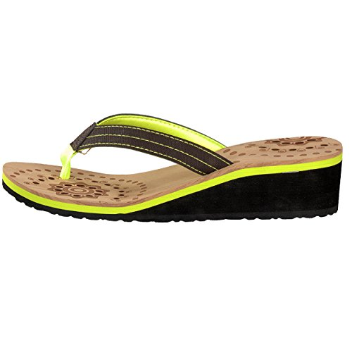brandsseller - Sandalias de Material Sintético para mujer Verde