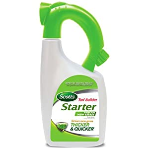 Scotts Turf Builder Starter Food for New Grass Ready-Spray Hose End Attachment (Liquid Starter Lawn Fertilizer) 32 fl. oz.