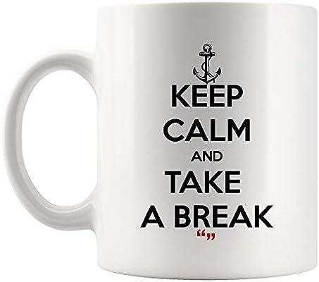 Amazon.com: Take A Break Relax Life Healthy Mug Coffee Cup ...